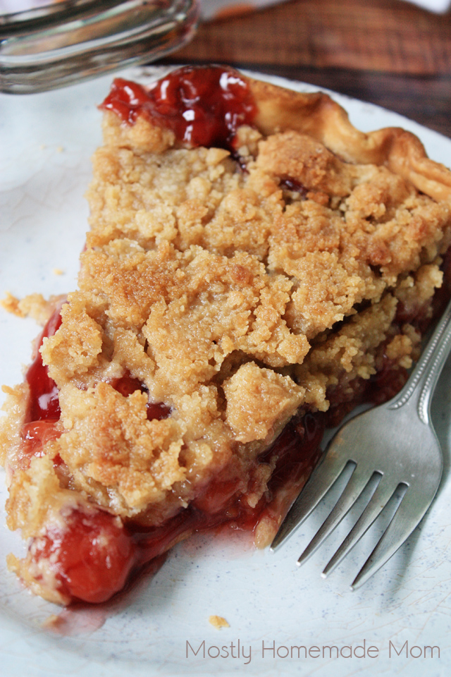 Cherry Crumb Pie | Mostly Homemade Mom