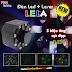 Đèn hiệu ứng LELA 3 trong 1 kết hợp của Laser + LED đổi mầu + Chớp LED