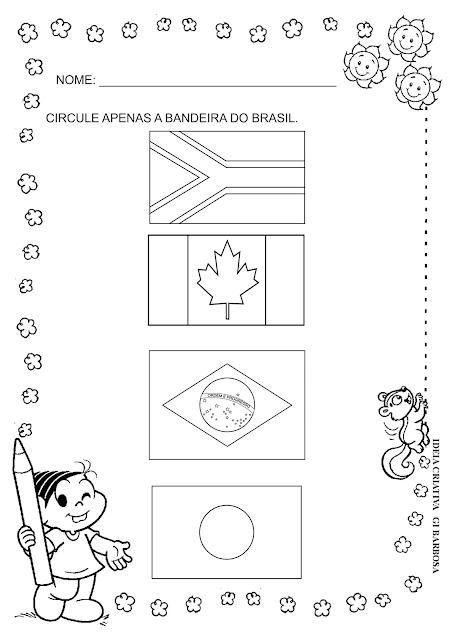 Atividade Dia da Bandeira Educação Infantil