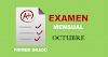 Examen Mensual de Primer Grado | Octubre