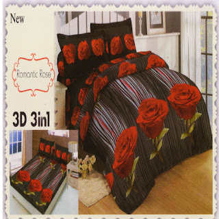 sprei 3d lady rose Romantic Rose
