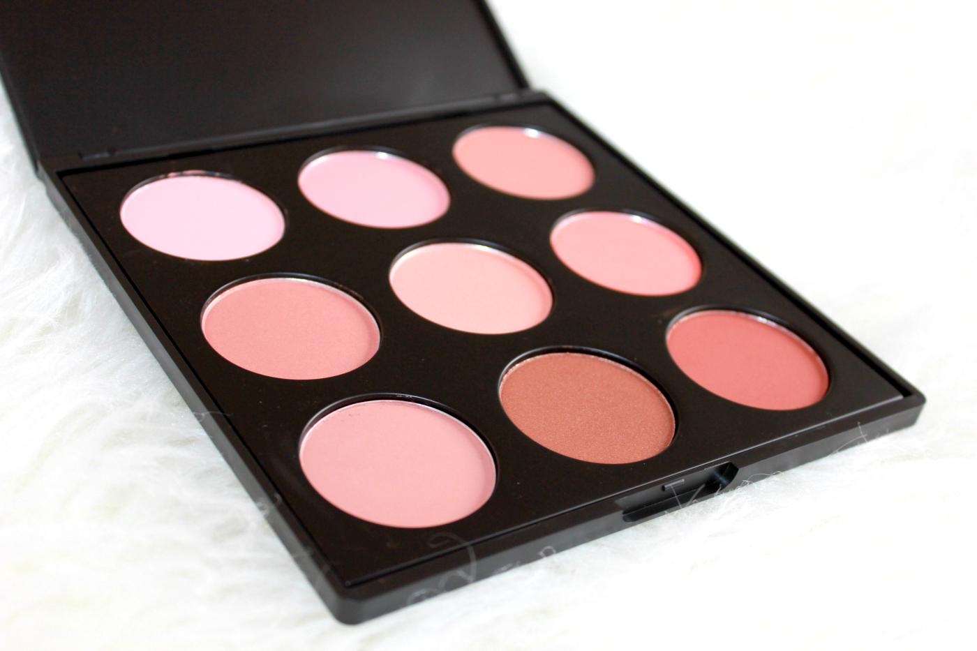 morphe 9n the naturally blushed blush palette blaise beauty