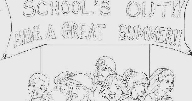 Last day of school coloring pages for kids
