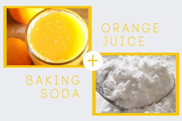 mặt nạ baking soda và cam đánh bay mụn đầu đen
