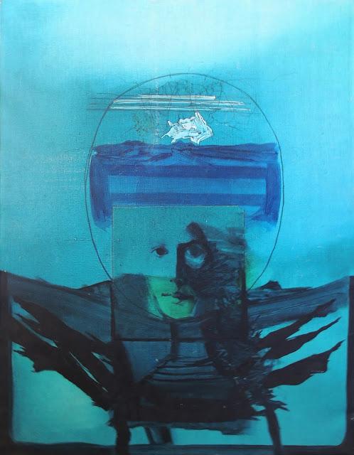 Óscar césar Mara pintura contemporánea surrealista rostro