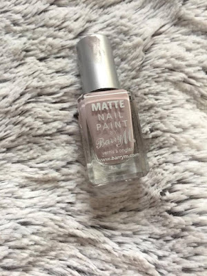 Barry M matte nail polish in 'vanilla'