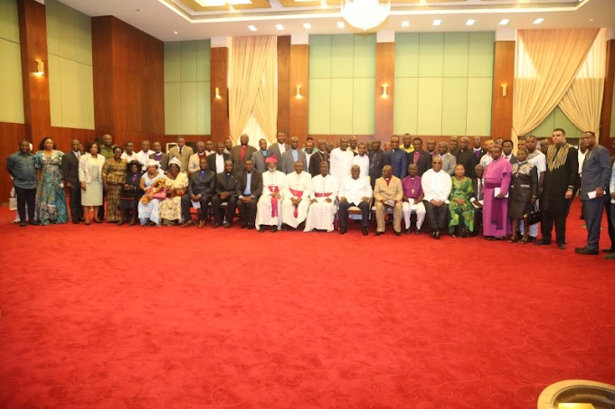 President Akufo-Addo Meets Christian Leaders In The New Year