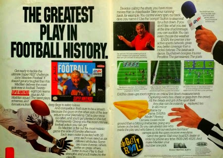 John Madden Football for Super NES advertisement