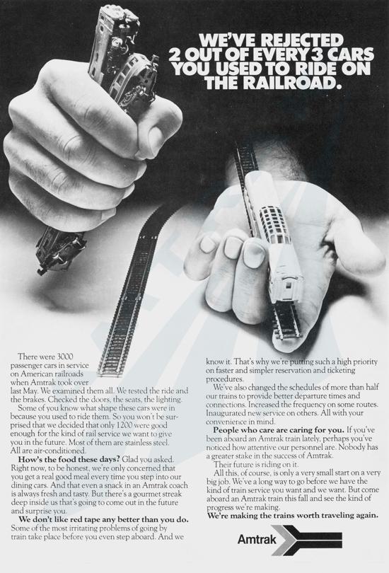 Amtrak Ad 1971