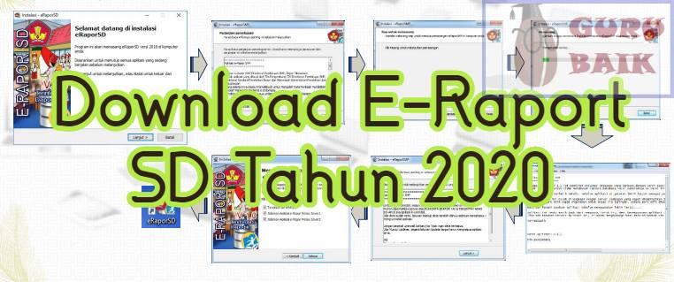 Gambar download aplikasi e-raport SD 2020