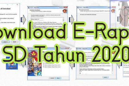 Unduh Aplikasi E-Raport SD Tahun 2021 Terintegrasi Dapodik Versi Terbaru