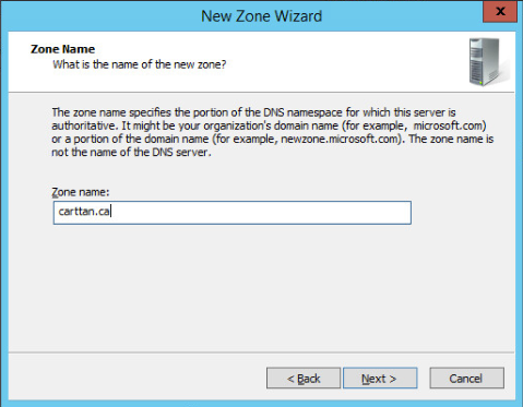 Figure 5: Step 5 of migrating a Linux BIND name server to a Windows Server DNS server.