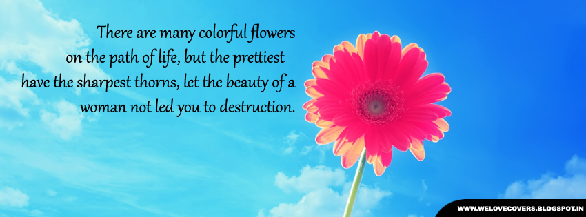 Colorful Flowers On The Path Of Life Timeline Cover Love Quotes