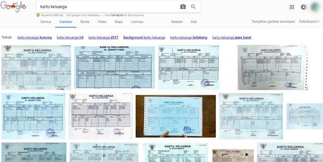 Data Kartu Keluarga Tersebar di Internet