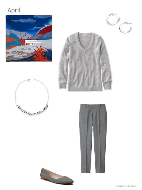 a grey outfit for spring