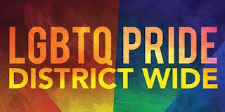 Banner with the words LGBTQ Pride District Wide