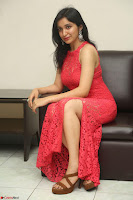 Sakshi Kakkar in Red Legsplit Sleeveless Gown at Dare movie Press meet ~  Exclusive 038.JPG