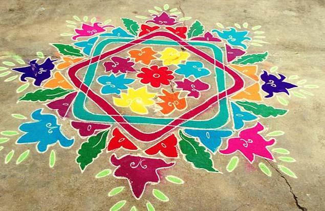 Latest Rangoli Designs Images