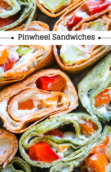 Easy Pinwheel Sandwiches with Cream Cheese