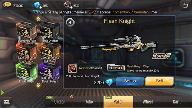 Cara Mendapatkan Senjata Flash Knight