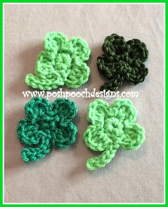 Posh Pooch Designs Dog Clothes 4 Leaf Clover Applique Crochet