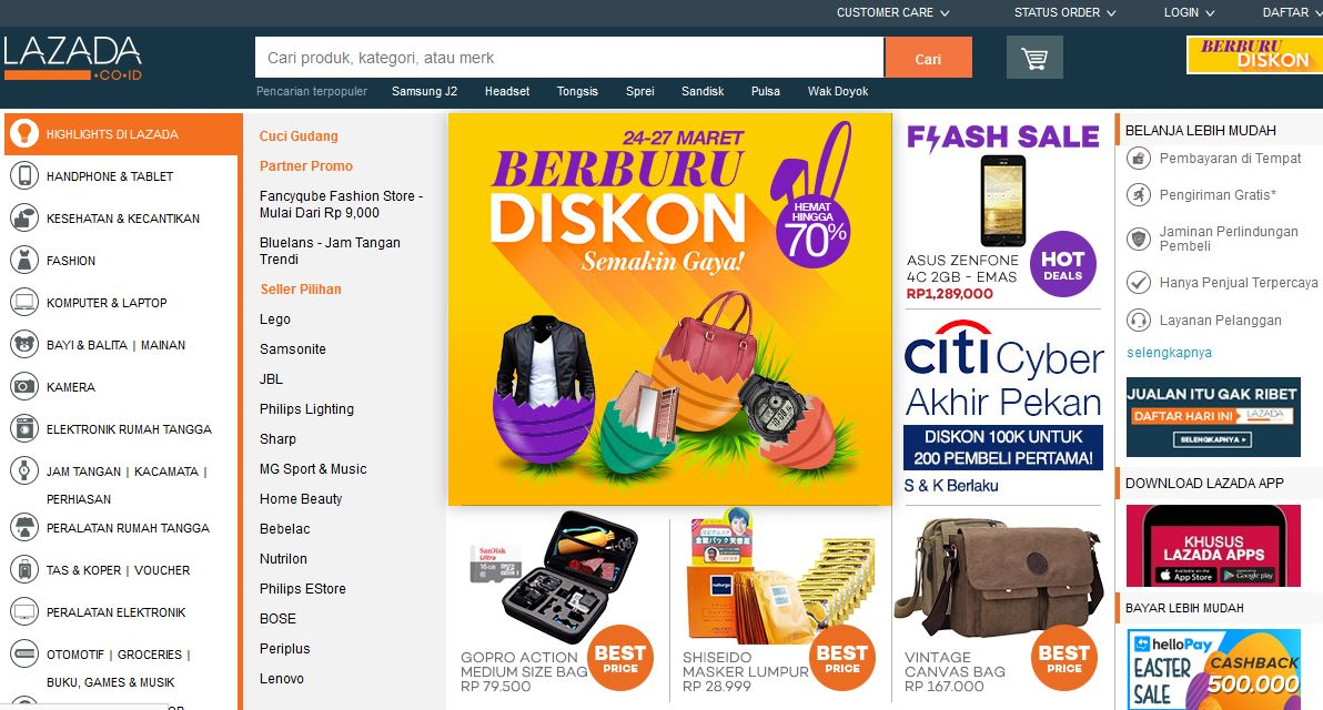 Fithriyyah Izzah: Review Website Lazada.co.id