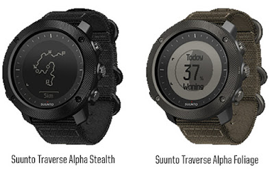 Suunto traverse alpha stealth and foliage