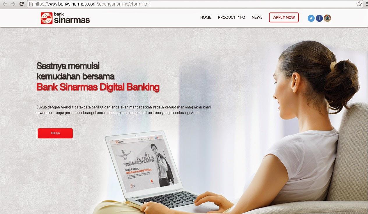 Image result for buka tabungan online sinarmas