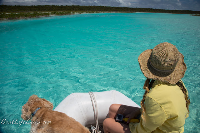 Dinghy trip down Bennet's Creek, Cat Island