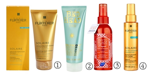 Cosméticos solares para o cabelo