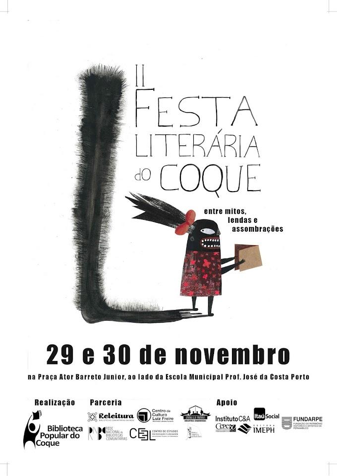 II Festa Literária do Coque começa quinta-feira (29.11)