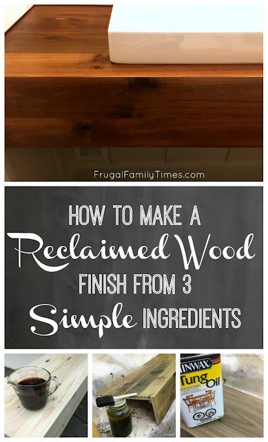 DIY reclaimed wood stain