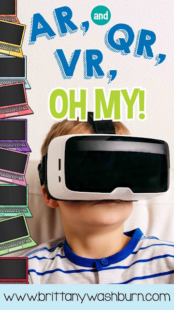 "Are you interested in integrating more technology in your classroom instruction? This blog series will help you do that! Today's topic: the 3 ""R's"" of technology integration. Augmented Reality, Quick Response, and Virtual Reality."