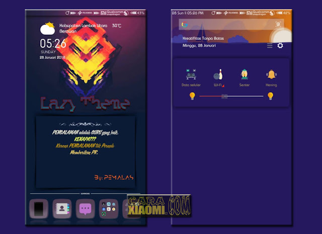 Tema Untuk Xiaomi Theme Lazy Update V2.1 Mtz For MIUI