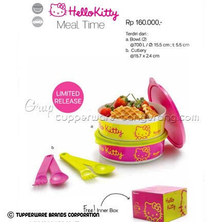 Hello Kitty Meal Time ~ Katalog Tupperware Promo Juni 2016