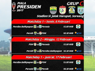 Jadwal Persib Piala Presiden 2017