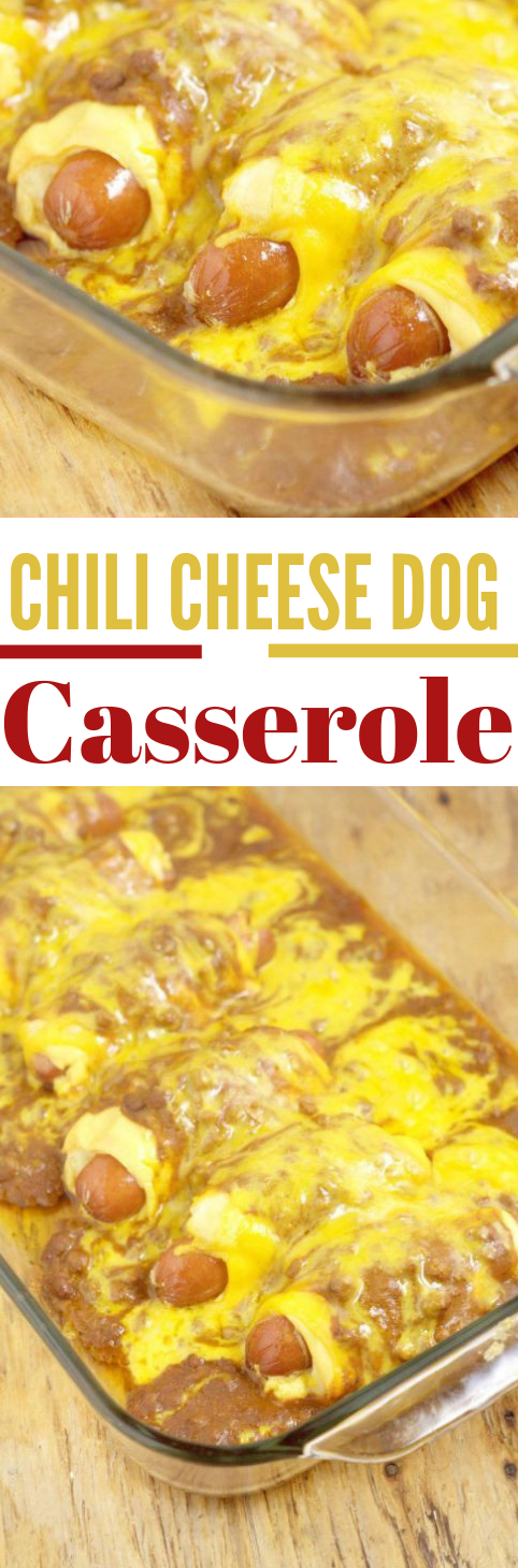 Chili Cheese Dog Casserole #healthyeat #lunch