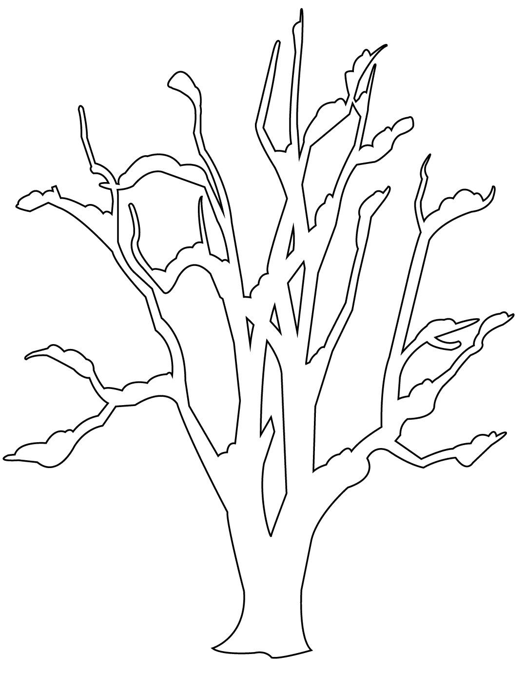 Download Gambar Sketsa Hitam Putih Mewarnai Pohon Terbaru Cari Cabe