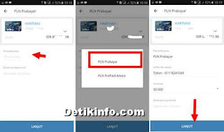 mandiri mobille banking beli pulsa PLN