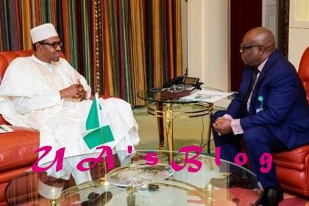 Photos Of President Buhari Meeting With CJN Onnohgen Today