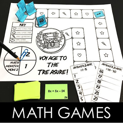 Voyage to the Treasure! math games