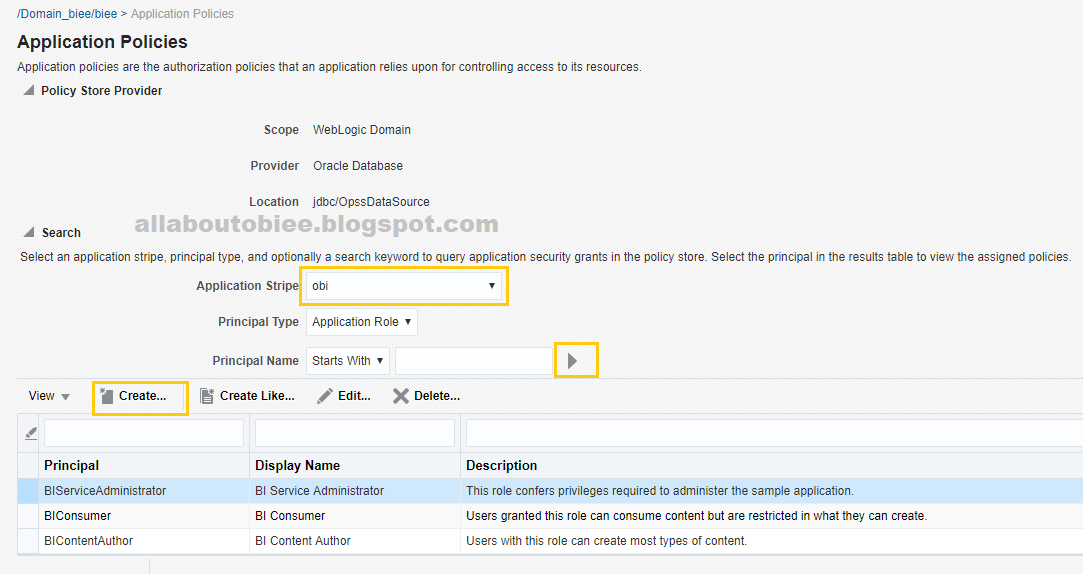 Creating Impersonated User in OBIEE 12c