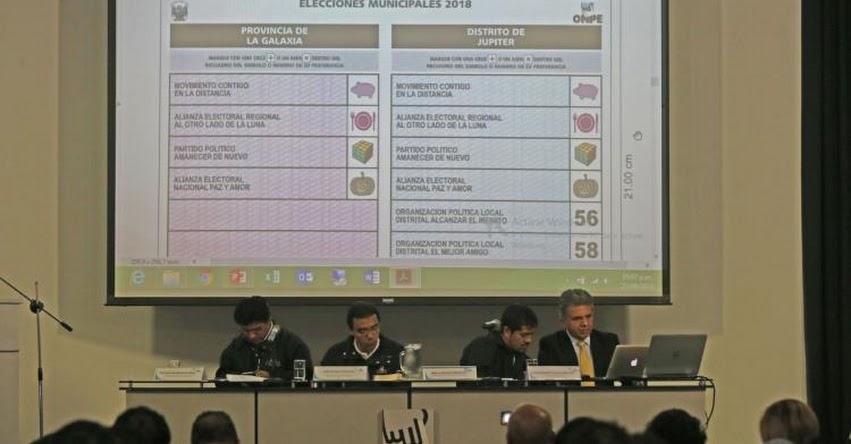 ELECCIONES 2018: Estas con las cédulas de votación en la provincia de Lima