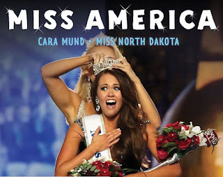 The winner announcement moment of Miss America 2018 Miss North Dakota Cara Mund being Crowned by Miss America 2017 Savvy Shields