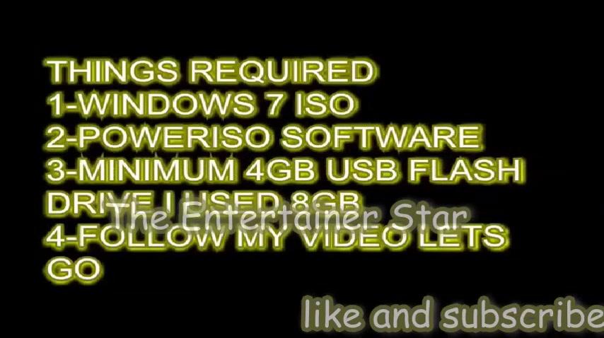 usb bootable windows 7 power iso