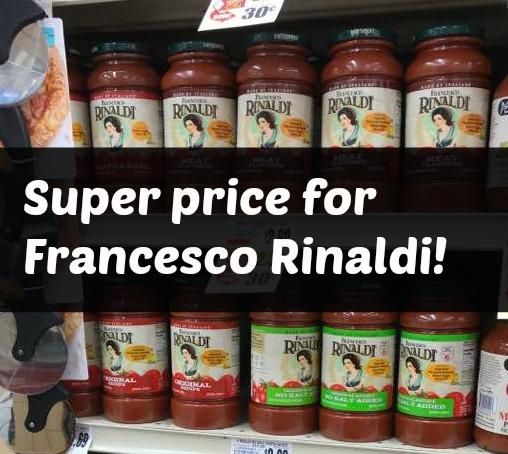 Rinaldi Sauce Deal at Tops