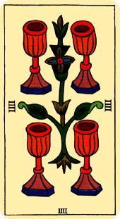 Tarot de Marsella - Cuatro de Copas