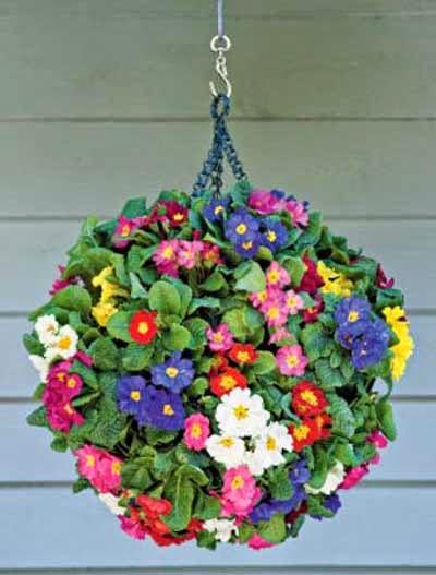 bola de flores colgantes
