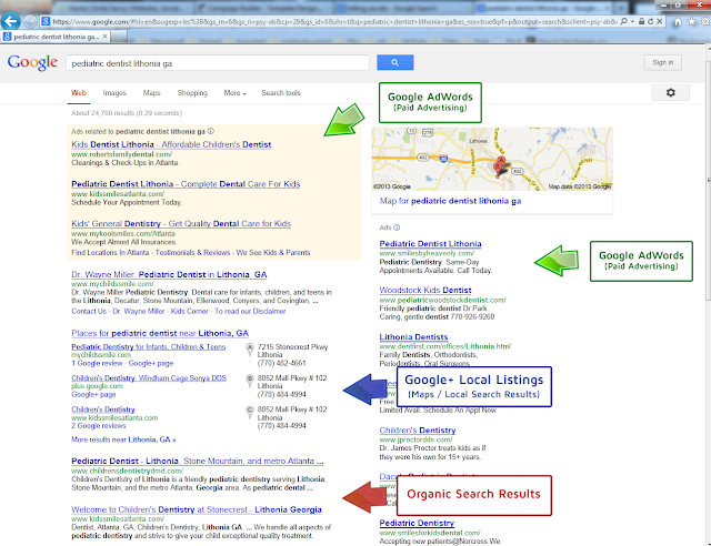 Front Page Local Search Listings Are Getting Squeezed