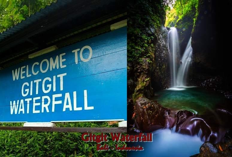 Tempat wisata gitgit waterfall Bali Indonesia